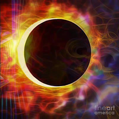 Digital Art - Dark Of The Sun - Square Version by John Beck