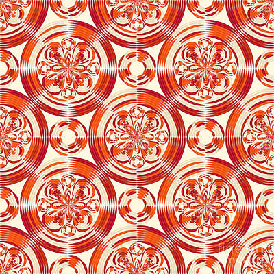Dark Orange Pattern Art Print