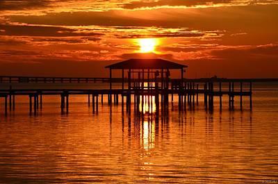 Photograph - 0209 Dark Orange Sunrise On Sound by Jeff at JSJ Photography