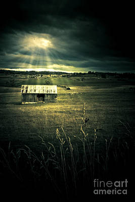 Shack Photograph - Dark Outback Landscape by Jorgo Photography - Wall Art Gallery