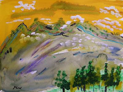 Painting - Dark Pines-white Clouds by Mary Carol Williams