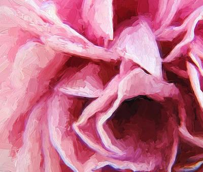 Painting - Dark Pink Rose 2 by Cathy Jourdan