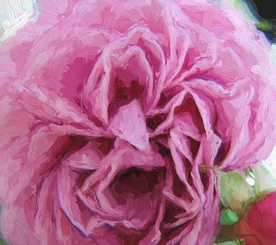 Painting - Dark Pink Rose by Cathy Jourdan