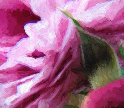 Painting - Dark Pink Roses 3 by Cathy Jourdan