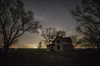 The Trees Photograph - Dark Places On The Prairie  by Aaron J Groen