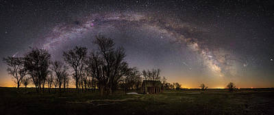 Photograph - Dark Places Pano  by Aaron J Groen