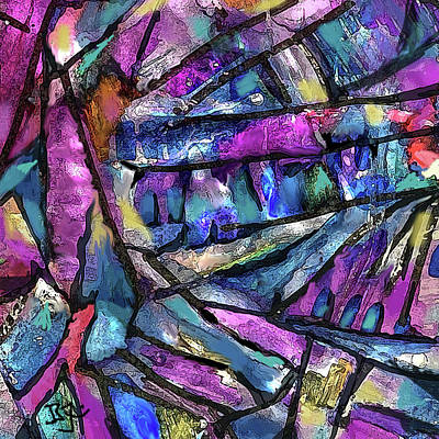 Painting - Dark Prism by Jean Batzell Fitzgerald