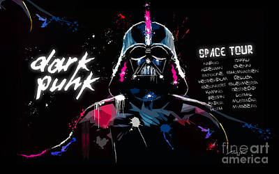 Star Wars Dark Punk Space Tour - Dark Vador Darth Vader Remixed By Daft Punk  Original by Morgan Morgon