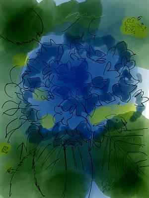 Dark Purple Hydrangea Art Print by Carl Griffasi
