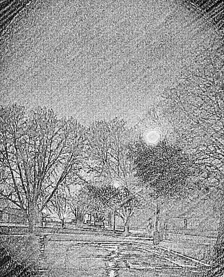 Photograph - Dark, Rainy Night by Diamante Lavendar