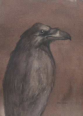 Painting - Dark Raven by John Holdway
