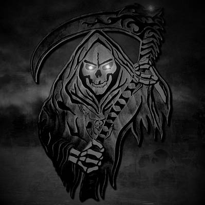 Dark Reaper Print by Michael Bergman
