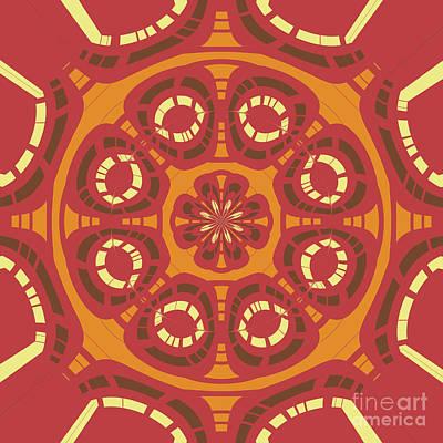 Dark Red Abstract Art Print