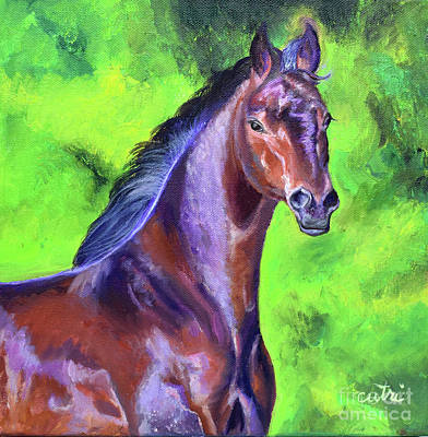 Painting - Dark Red Bay Horse by Anne Cameron Cutri