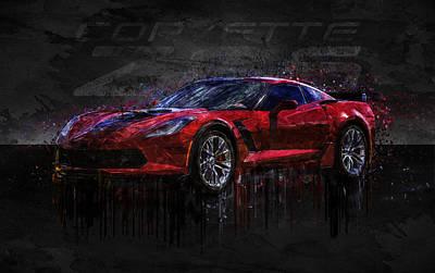 Photograph - Dark Red Chevrolet Corvette Z06 by Ray Van Gundy