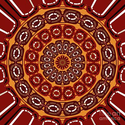 Dark Red Mandala Art Print