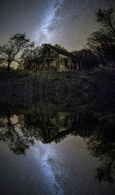 Art Print featuring the photograph Dark Reflection by Aaron J Groen