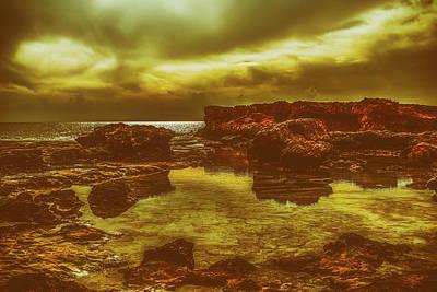 Photograph - Dark Reflections At Sunset by Dimitris Vetsikas