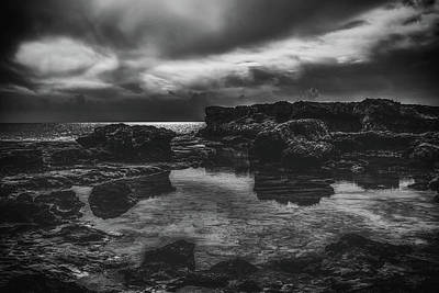 Photograph - Dark Reflections Seaside by Dimitris Vetsikas