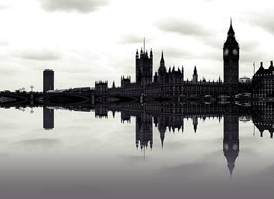 City Of London Photograph - Dark Reflections by Sharon Lisa Clarke