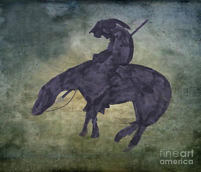 Digital Art - Dark Rider by Randy Steele