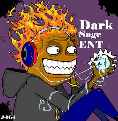 Dark Sage Art Print