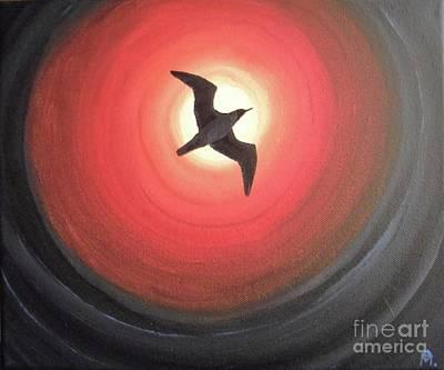 Dark Seagull Art Print by Melina Mel P