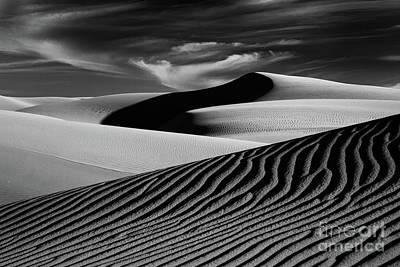 Dark Shadows In The Dunes Art Print