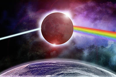 Photograph - Dark Side Of The Eclipse by WB Johnston