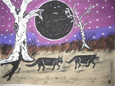 Dark Side Of The Moon Art Print by Jeffrey Koss