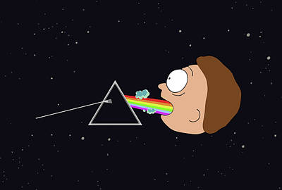 Pink Floyd Wall Art - Digital Art - Dark Side Of The Morty by Rick And Morty