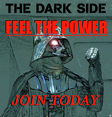 Painting - Dark Side Recruiting Poster by David Lee Thompson