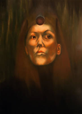 Painting - Dark Sister Of The Black Sun Cult by Roger Williamson