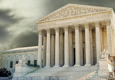 Photograph - Dark Skies Above Supreme Court Of Justice by Patricia Hofmeester