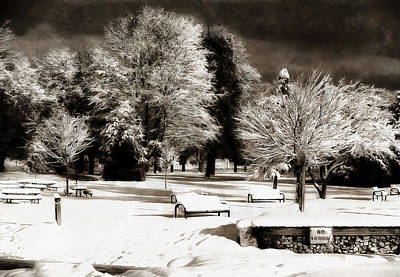 Digital Art - Dark Skies And Winter Park by JGracey Stinson
