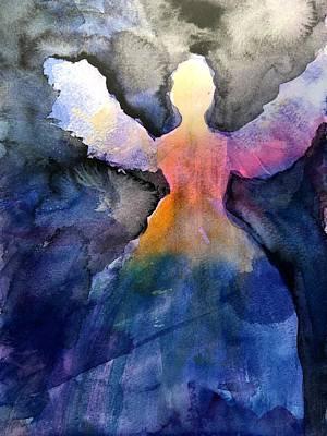 Dark Skies Angel Art Print by Jeanne MCBRAYER