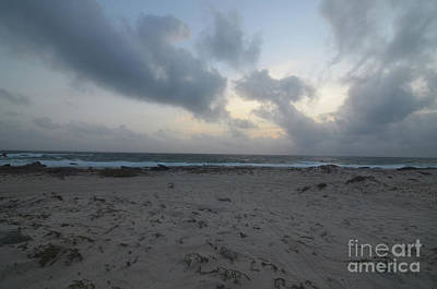 Photograph - Dark Skies Over A Sand Beach In Aruba by DejaVu Designs