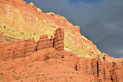 Photograph - Dark Skies Over Capitol Reef by Ray Mathis