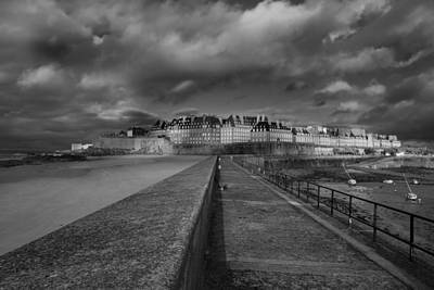 Photograph - Dark Skies Over St Malo by Diana Hughes