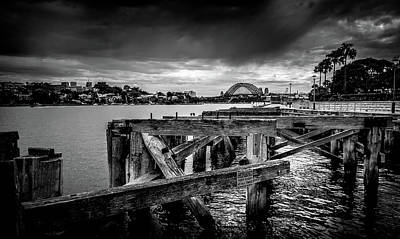 Photograph - Dark Skies Over Sydney by Steveo55
