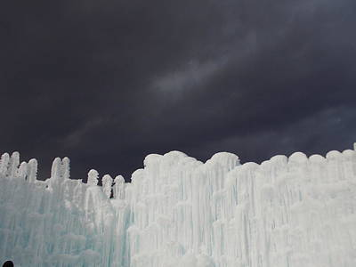 Photograph - Dark Skies Over The Wall Of Ice by Catherine Gagne