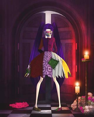 Digital Art - Dark Skully Delights by Brandy Thomas