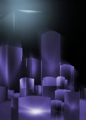 Digital Art - Dark Sky 2 by John Krakora