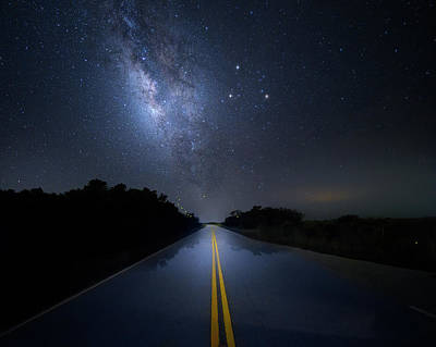Photograph - Dark Sky Highway by Mark Andrew Thomas