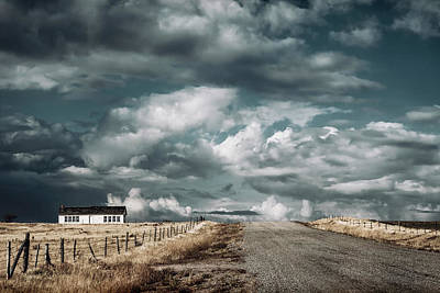 White Barn Photograph - Dark Sky by Humboldt Street