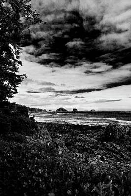 Photograph - Dark Sky Over South Point Ucluelet by Brian Sereda