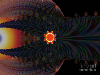 Dark Space Fractal  Art Print
