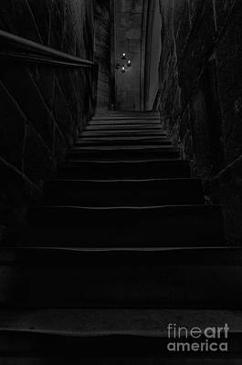 Photograph - Dark Stairway by Steev Stamford