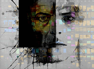 Celebrities Wall Art - Painting - Dark Star by Paul Lovering