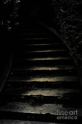 Photograph - Dark Steps Leading Upward by Jim Corwin